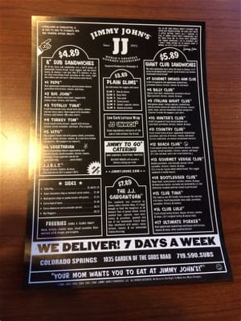 Jimmy S Garden Of The Gods jimmy s sandwiches colorado springs co reviews