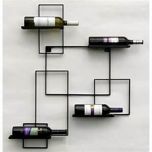 Support Bouteille Mural : dandibo casier vin black line porte bouteilles m tal 90cm porte bouteilles etag re murale ~ Carolinahurricanesstore.com Idées de Décoration