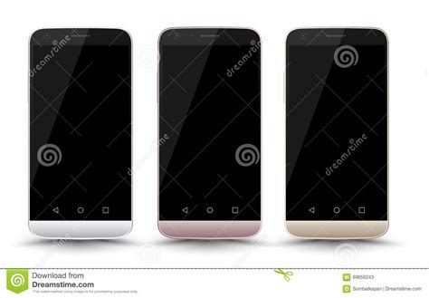 modern smartphone modern smartphone mockup set with screen stock