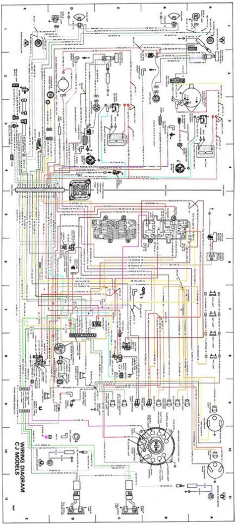 Wiring Diagram For 1984 Jeep Cj 7 by Color Wiring Diagrams Jeep Cj Forums