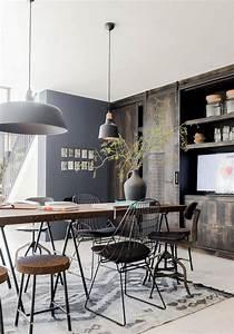 deco scandinave industrielle et ethnique avec le tapis With tapis ethnique avec canapé style loft