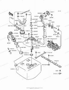 Kawasaki Jet Ski 1995 Oem Parts Diagram For Fuel Tank