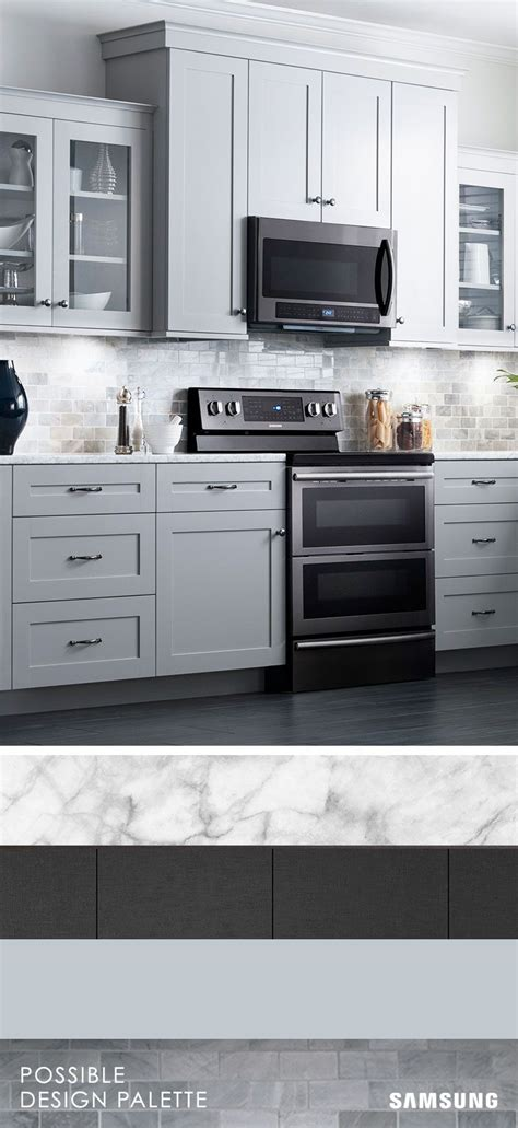 gray kitchen cabinets with stainless steel appliances 25 great ideas about kitchen black appliances on