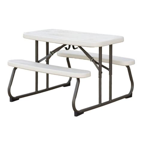lifetime folding picnic table almond 280094