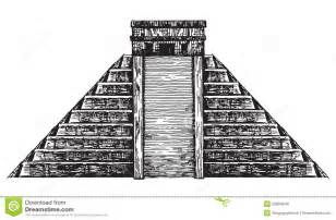 Mexico Aztec Pyramid Drawings