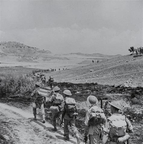 of the lancashire fusiliers leaving catenanuova during