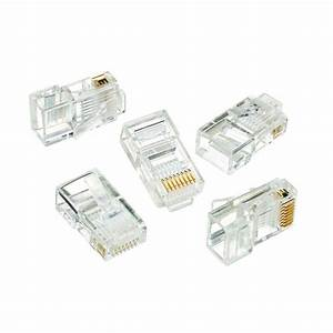 Ideal Rj-45 8-position 8-contact Category 5e Modular Plugs  50 Per Pack -85-396