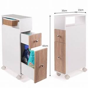 Meuble De Rangement Wc : meuble rangement wc sur roulettes 2 tiroirs h tre meubles et am na ~ Teatrodelosmanantiales.com Idées de Décoration