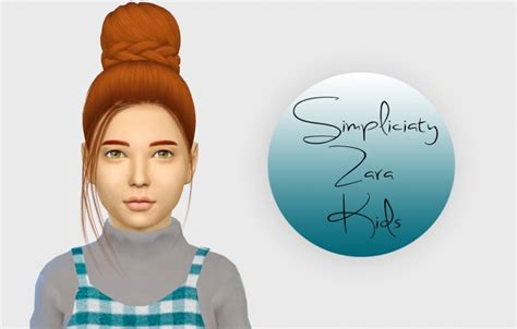 simpliciaty cc zara hair kids version  simiracle sims