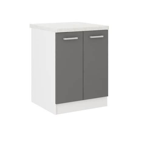 cdiscount meubles cuisine ultra meuble bas de cuisine l 60 cm avec plan de travail