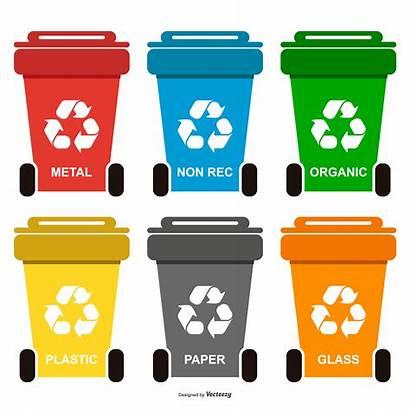 Vector Bin Paper Waste Recycle Bins System