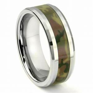tungsten carbide military us woodland camouflage wedding ring With navy wedding rings