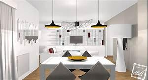 Salle A Manger Avec Salon : deco mur pour salle a manger design salle a manger ~ Premium-room.com Idées de Décoration