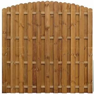 Panel de ocultación vertical de madera, modelo arqueado vidaXL es