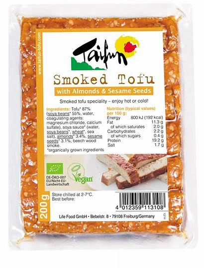 Tofu Sesame Vegan Taifun Smoked Seeds Almond