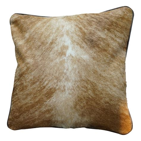Brindle Cowhide Pillows - cowhide square pillow light brindle