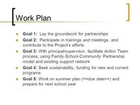 Work Plan Goals and Objectives