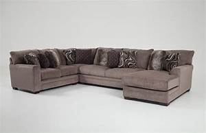 luxe 4 piece left arm facing sectional with chaise bob39s With 4 piece sectional sofa cheap
