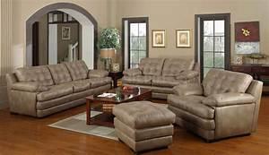 Dark beige bonded leather modern sofa loveseat set w options for Dark beige sectional sofa
