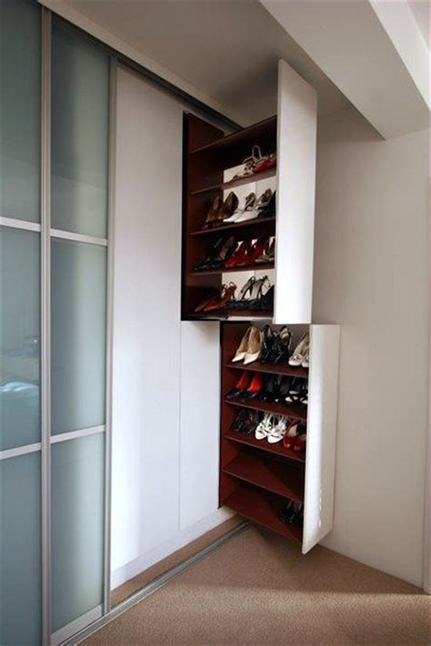 david myron  pull  shoe racks provide neat