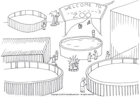zoo coloring page zoo animal habitats pinterest