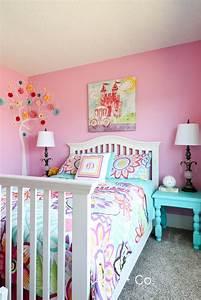 Colorful, Little, Girl, Room, Girls, Bedroom, Ideas, Benjamin, Moore, Pink, Begonia, Walls, Girlsbedroom