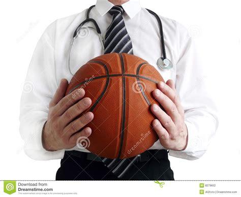 man doctor  basketball ball  hands stock photography