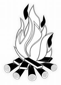 Camp Fire Black And White Clip Art at Clker.com - vector ...
