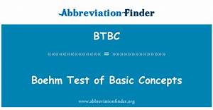 Boehm Test Of Basic Concepts Manual