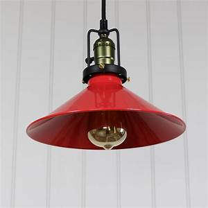 Vintage red loft style ceiling light melody maison?