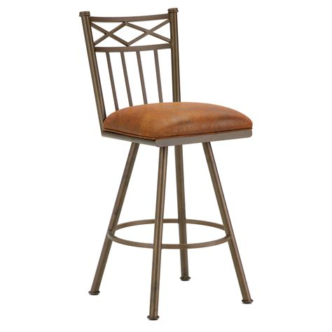 Microfiber Bar Stool - 26 quot armless swivel counter stool x motif