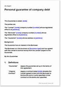 personal guarantee of company debt template With personal guarantee template uk