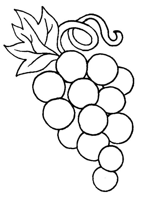 Coloring Grapes free grapes coloring pages