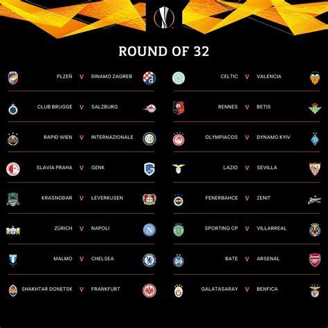 Se sortearon los 16avos de final de la UEFA Europa League ...