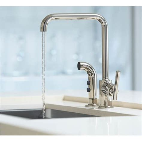 kohler purist with side spray kitchen faucet roman bath