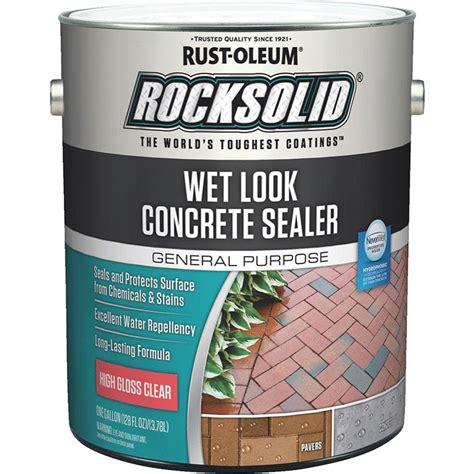 rust oleum  rocksolid wet  concrete sealer high