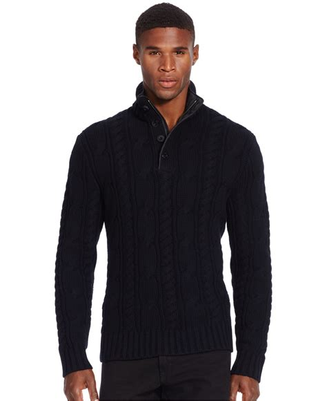 cable sweater mens polo ralph cable knit merino sweater in black for