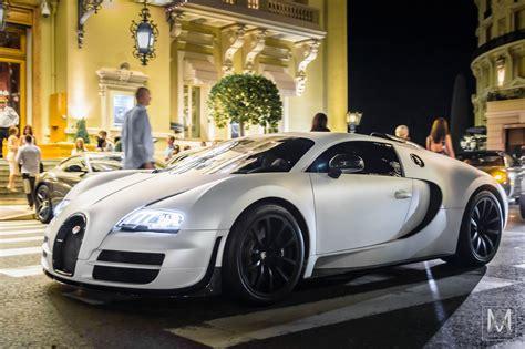 Bugatti Veyron | Matte white Veyron in front of the Monte ...