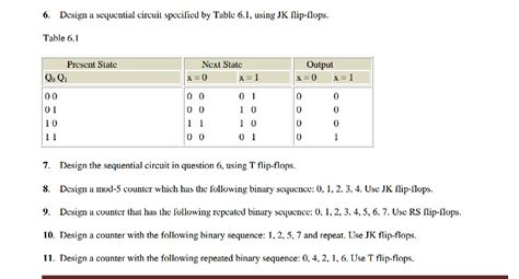 Which Of The Following Was Used To Decorate Islamic - solved 6 design a scquential circuit specificd by table