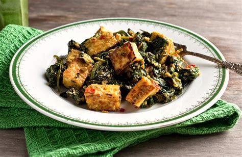 tofu saag paneer tofu  spinach ginger coriander