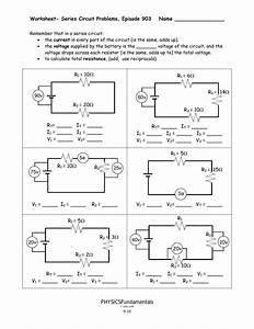 Worksheet Series Circuit Problems Episode 903