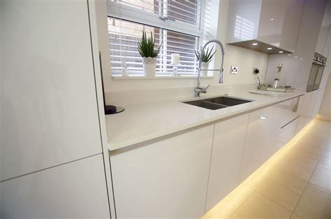 white high gloss german kitchen buntingford blax