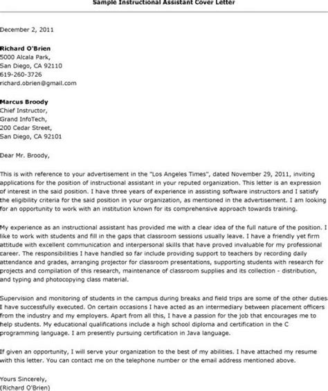 Lecturer Cover Letter Examples Special Education Assistant Well