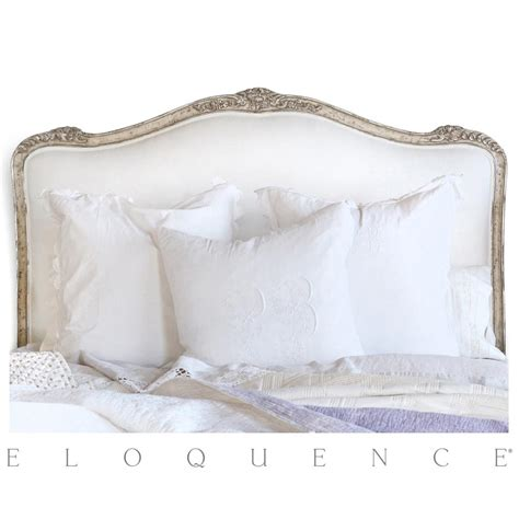 Antique White Headboards by Eloquence 174 Headboard Silver Antique White Two
