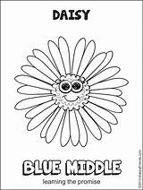 Daisy Scout Flower Scouts Promise Activities Middle Petals Coloring Makingfriends sketch template
