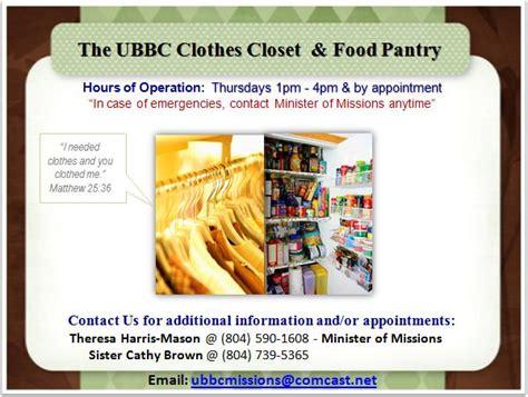 clothes closet food pantry unionbranch