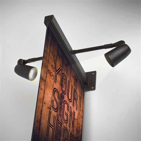 lighted sign brackets wall mount sign brackets with lights