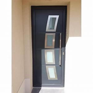 porte d entree en aluminium achat vente porte d39entree With porte d entrée pvc avec plateau bois salle de bain