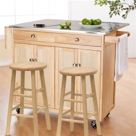 kitchen carts islands the portable kitchen island with optional stools contemporary kitchen islands and