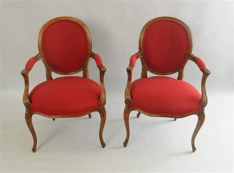 Pair Of Baker French Country Louis Xv Style Armchairs Oval